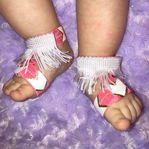 Other - Fringe barefoot sandals
